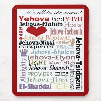 Names of God-Subway Art Mouse Pad