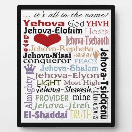 Names of God-Subway Art Plaque