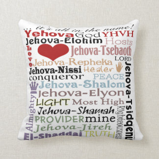 Names of God-Subway Art Throw Pillow