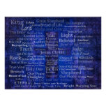 Names of Jesus - Contemporary Christian art Poster