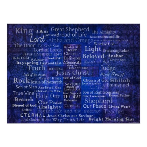 Names of Jesus - Contemporary Christian art Posters