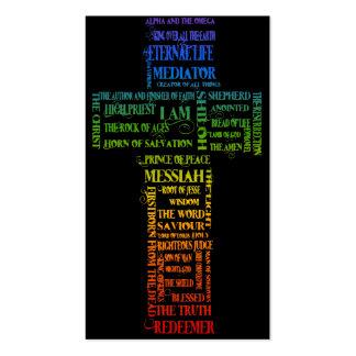 Names of Jesus Cross Business Card