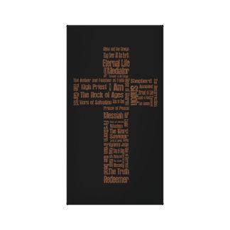 Names of Jesus Cross Canvas Print
