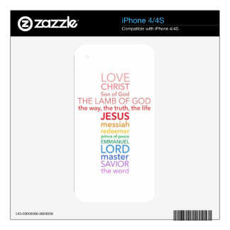 Names of Jesus Cross Skin For The iPhone 4S