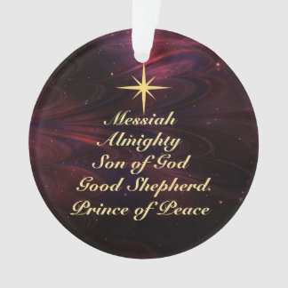 Names of Jesus - Customized Christmas Ornament