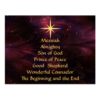 Names of Jesus - Customized  Christmas Postcard