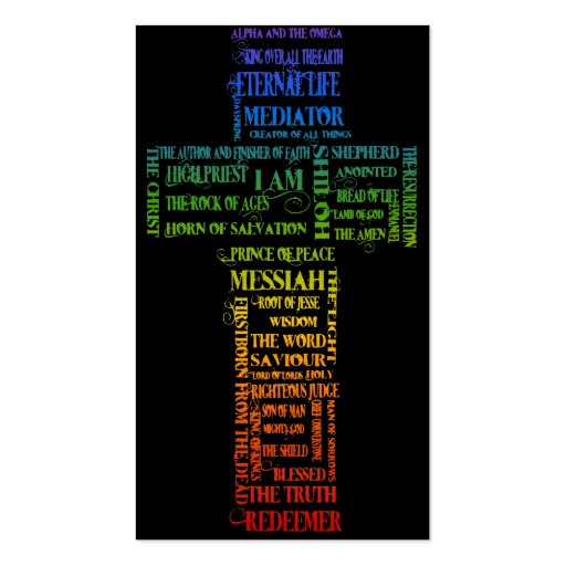Names of Jesus/ Eph 2: 1-10 Gospel tract Business Card Templates