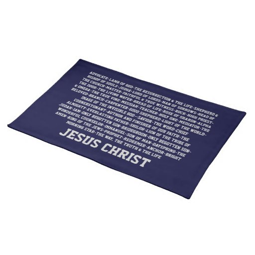 Names of Jesus Placemat