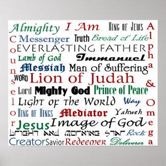Names of Jesus Poster