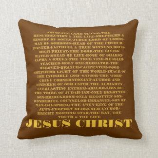 Names of Jesus Throw Pillow
