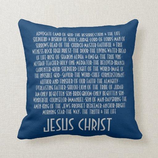 Throw Pillow Name Origin : Names of Jesus Throw Pillows Zazzle