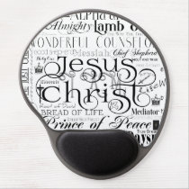 Names of Jesus Typography Gel Mousepad