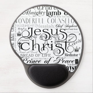 Names of Jesus Typography Gel Mousepad