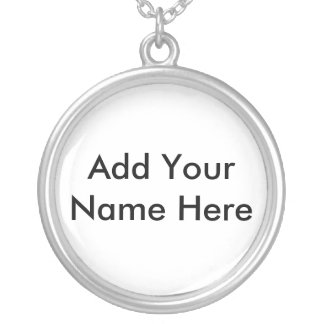 Names Round Pendant Necklace