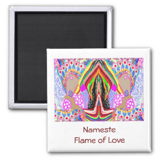 NAMESTE  -  Flame of Love Decorations 2 Inch Square Magnet