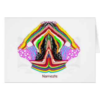 NAMESTE  -  Flame of Love Decorations Card