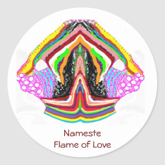 NAMESTE  -  Flame of Love Decorations Classic Round Sticker