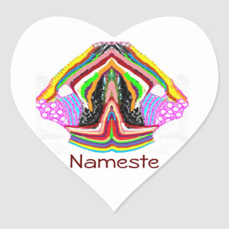 NAMESTE  -  Flame of Love Decorations Heart Sticker