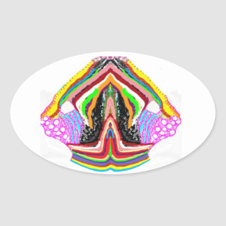 NAMESTE  -  Flame of Love Decorations Oval Sticker