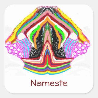 NAMESTE  -  Flame of Love Decorations Square Sticker