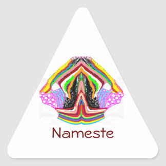NAMESTE  -  Flame of Love Decorations Triangle Sticker