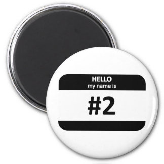 Nametag #2 2 inch round magnet