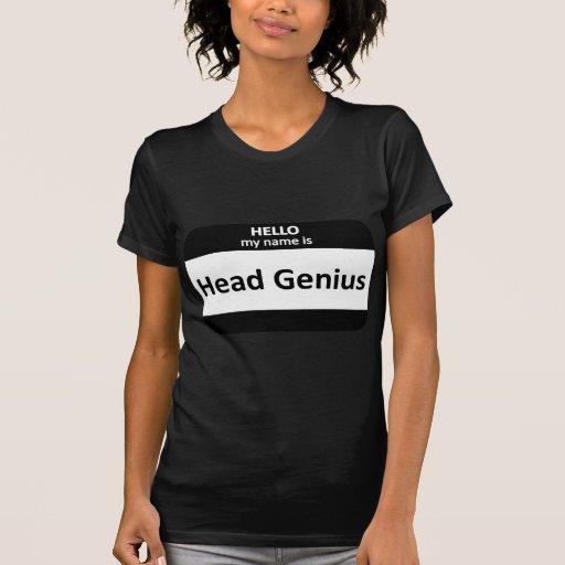Nametag principal del genio camisas