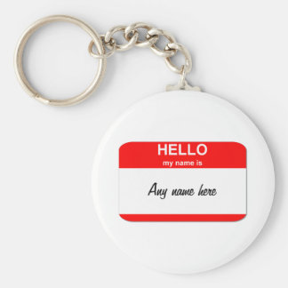 Nametag template basic round button keychain