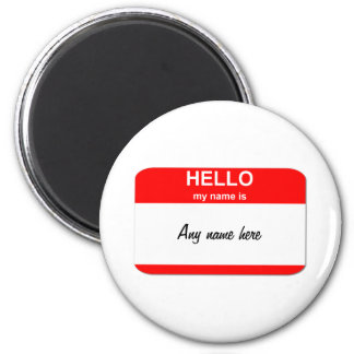 Nametag template magnet