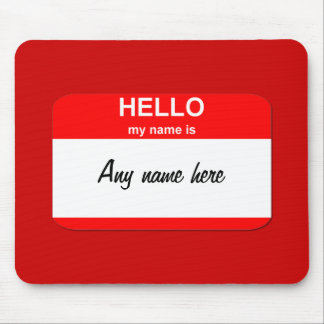 Nametag template mouse pad