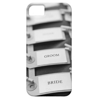 Nametags de novia y del novio iPhone 5 Case-Mate funda