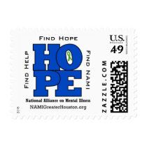 NAMI Greater Houston HOPE 49 cent postage stamp