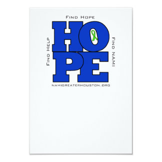 NAMI Greater Houston HOPE Flat Note Card Vertical