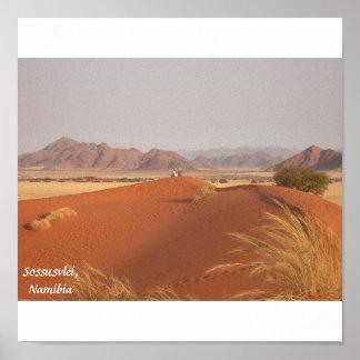 Namib Desert Enlargement, Sossusvlei, Namibia Poster