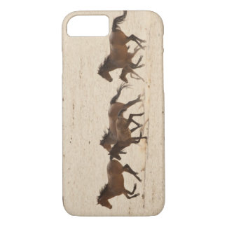 Namibia, Aus. Group of running wild horses on iPhone 7 Case
