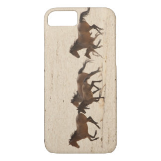 Namibia, Aus. Group of running wild horses on iPhone 8/7 Case