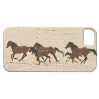 Namibia, Aus. Group of running wild horses on iPhone SE/5/5s Case