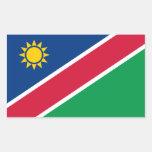 Namibia/bandera namibiana pegatina rectangular