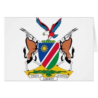 Namibia Coat of Arms Card