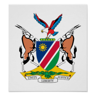Namibia Coat Of Arms Poster
