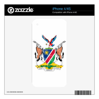 Namibia Coat Of Arms Skins For iPhone 4S