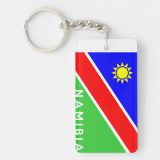 namibia country flag text name acrylic key chains