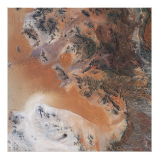 Namibia Desert from Space Poster