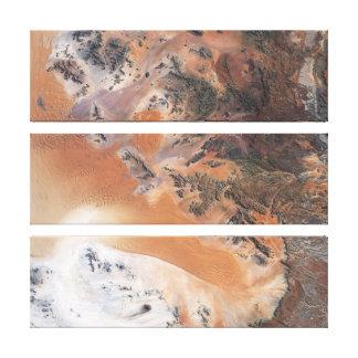 Namibia Desert Triptych Canvas Print