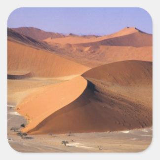 Namibia Dunas de Sossuvlei escénico aéreo Calcomanía Cuadradas