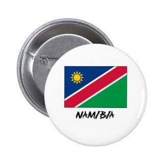Namibia Flag Pinback Buttons