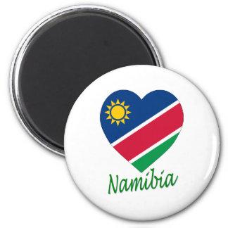 Namibia Flag Heart Fridge Magnets