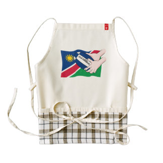 Namibia Flag Rugby Ball Cartoon Hands Zazzle HEART Apron