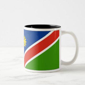Namibia Flag Two-Tone Coffee Mug