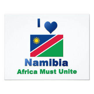 Namibia 4.25x5.5 Paper Invitation Card